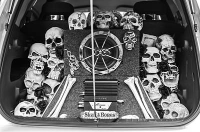 Skull Photograph - Skull And Bones - Pt Cruiser by Jill Reger