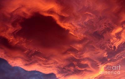 Cloud Formations. Cloud Photograph - Sky Fire by Krissy Katsimbras