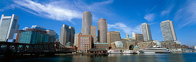 Skyscrapers At The Waterfront, Boston Print by Panoramic Images