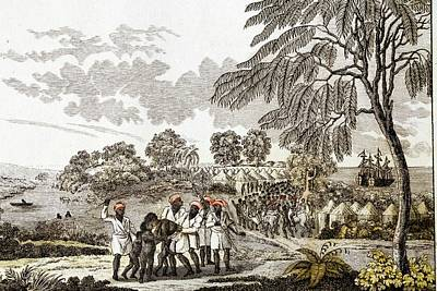 Slave Trade In Africa Print by Paul D Stewart