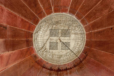 Sundial Photograph - Small Sundial Jantar Mantar Astronomy by Tom Norring