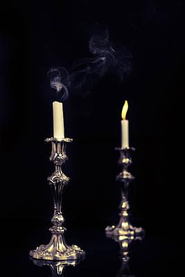 Smoking Candle Print by Amanda Elwell
