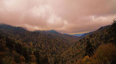 Smoky Mountains In Autumn Print by Dan Sproul