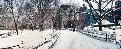 Union Square Photograph - Snow Covered Park, Union Square by Panoramic Images