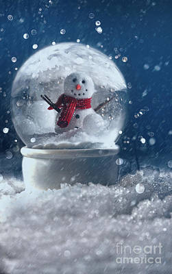 Joyous Photograph - Snow Globe In A Snowy Winter Scene by Sandra Cunningham