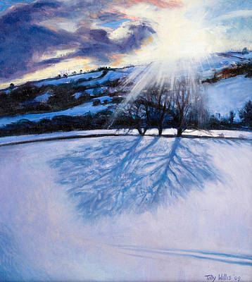 Snow Shadows Print by Tilly Willis