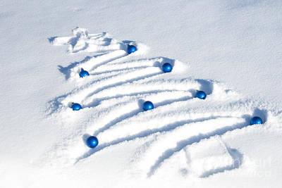 Snow Tree Print by Juli Scalzi