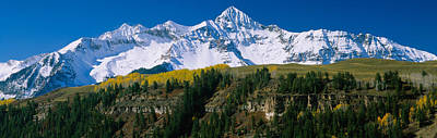 San Juan Mountain Range Photograph - Snowcapped Mountains On A Landscape by Panoramic Images