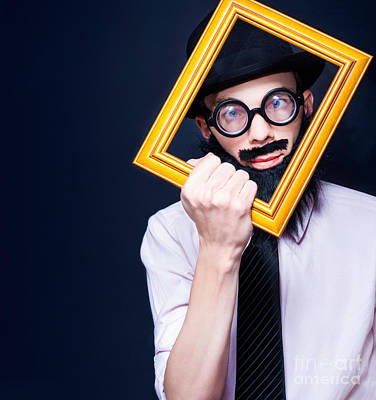 Selfie Photograph - Social Media Man Resizing His Profile Picture by Jorgo Photography - Wall Art Gallery