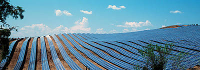 Provence Photograph - Solar Panels In A Farm by Panoramic Images