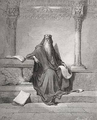 Religious Drawing - Solomon by Gustave Dore