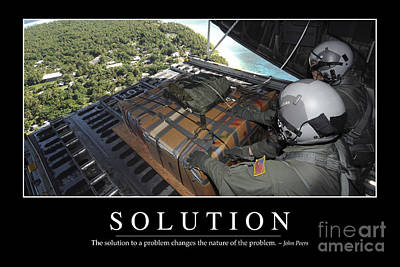 Solution Inspirational Quote Print by Stocktrek Images