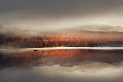 Pond Photograph - Sound Of Silence by Magda  Bognar