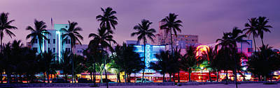 South Beach, Miami Beach, Florida, Usa Print by Panoramic Images