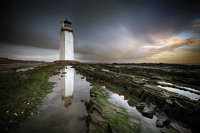 Southerness Lighthouse Print by Grant Glendinning