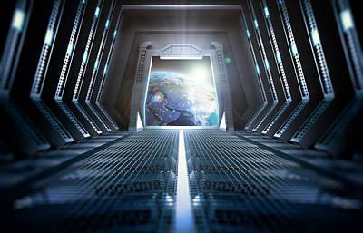 Portal Photograph - Space Station Interior by Andrzej Wojcicki
