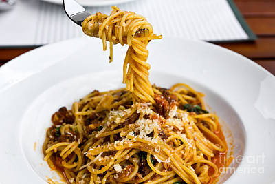 Spaghetti On The Fork Print by Tosporn Preede