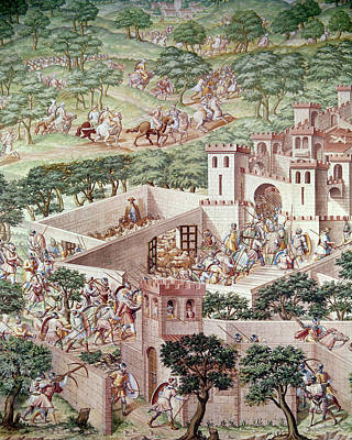 Knights Castle Painting - Spain Higuerela, 1431 by Granger