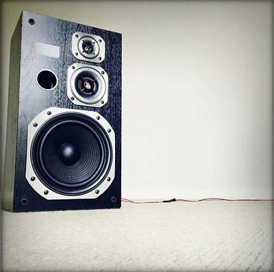 Noise Photograph - Speaker by Les Cunliffe