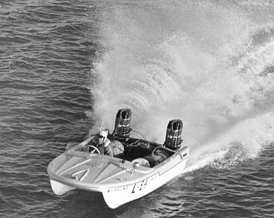 Speed Boat Racing Print by Retro Images Archive