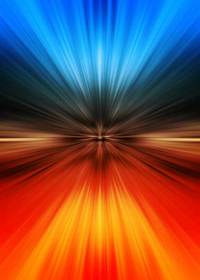 Orange Digital Art - Speed by Modern Art Prints