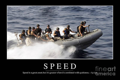 Inflatable Photograph - Speed Inspirational Quote by Stocktrek Images