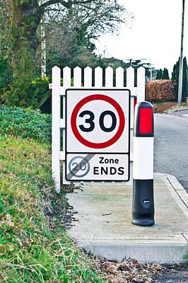 Speed Limit Print by Tom Gowanlock