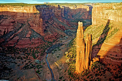 Chelly Photograph - Spider Rock In Canyon De Chelly by Richard Wright