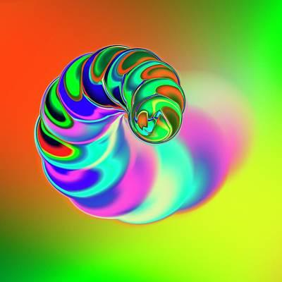 Spiral Photograph - Spiral Shape by Mehau Kulyk