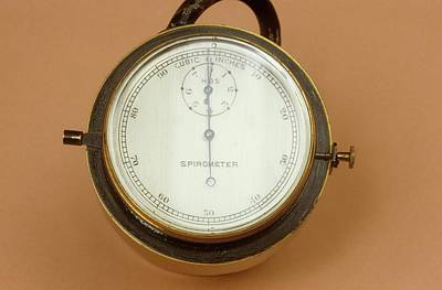 Nineteenth Century Photograph - Spirometer by Science Photo Library
