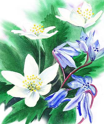Spring Flowers Print by Irina Sztukowski