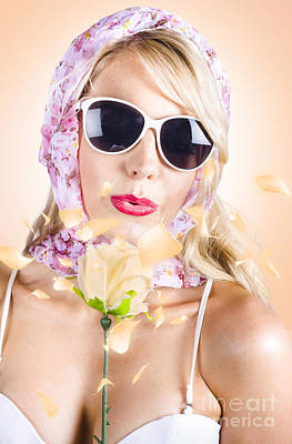 Spring Girl Enjoying The Natural Beauty In Nature Print by Jorgo Photography - Wall Art Gallery