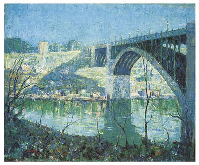 Harlem Painting - Spring Night Harlem River by Ernest Lawson