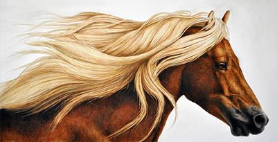 Horse Painting - Spun Gold by Pat Erickson