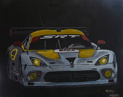 Viper Painting - Srt Dodge Viper Gts-r by Richard Le Page