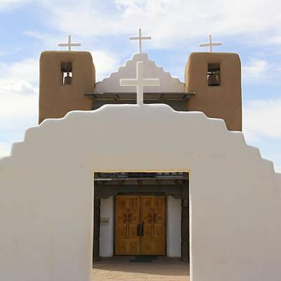 Pueblo Photograph - St. Jerome Chapel - Taos Pueblo by Mike McGlothlen