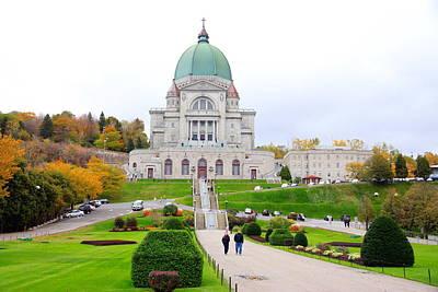 Montreal Landmarks Photograph - St. Joseph Oratory by Valentino Visentini