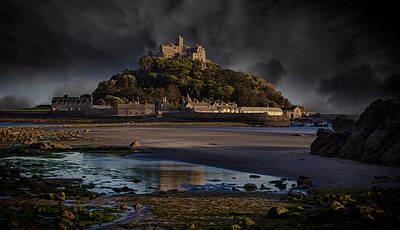Lightning Photograph - St Michael's Mount Cornwall by Martin Newman