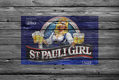 Handcrafted Photograph - St Pauli Girl by Joe Hamilton