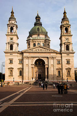 Attraction Photograph - St Stephen's Basilica In Budapest by Michal Bednarek