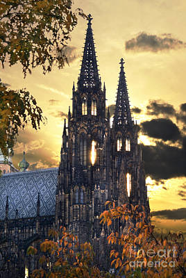 Medieval Temple Pyrography - St Vitus Church In Hradcany Prague by Jelena Jovanovic