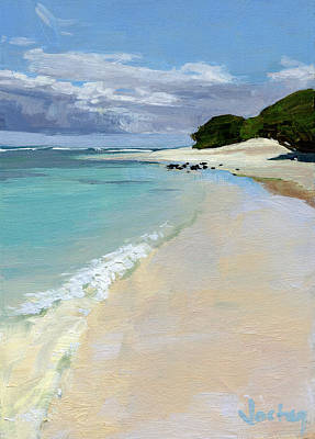 Stable Road Beach Maui Print by Stacy Vosberg