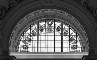 Stained Glass - Library Of Congress Print by Mountain Dreams