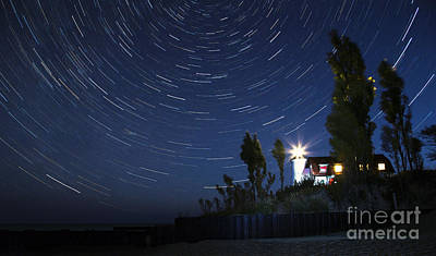Space Photograph - Stars Over Point Betsie by Twenty Two North Photography