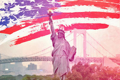 Liberty Painting - Statue Liberty by MotionAge Designs