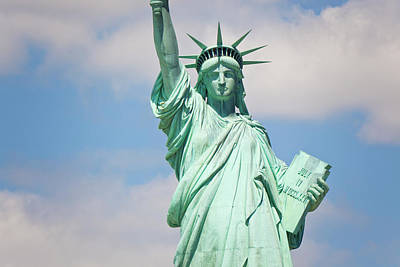 Statue Of Liberty, New York, Usa Print by Peter Adams