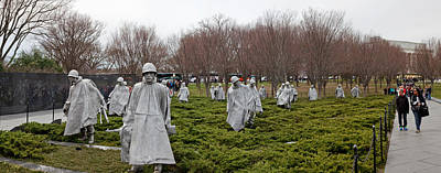 War Memorial Photograph - Statues Of Soldiers At A War Memorial by Panoramic Images