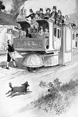Dirt Roads Drawing - Steam Carriage, 1832 by Granger