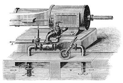 Steam Engine Condenser Print by Science Photo Library