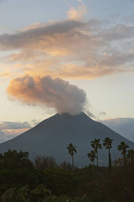 Steaming Photograph - Steaming Volcano At Sunset Mount by Kevin Schafer